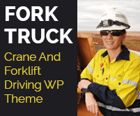 Fork Truck - Crane And Forklift Driving WordPress Theme & Template