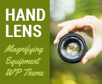 Hand Lens - Magnifying Equipment Sale WordPress Theme & Template