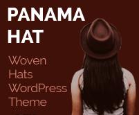 Panama Hat - Woven Hats WordPress Theme & Template