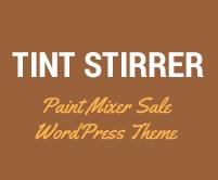 Tint Stirrer - Paint Mixer Sale WordPress Theme & Template