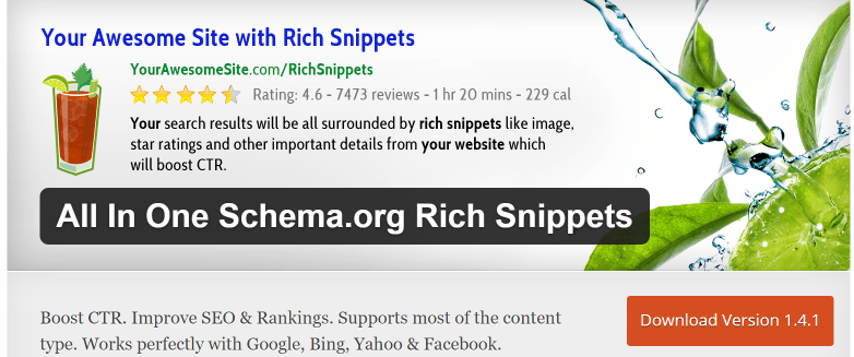 All In One Schema.org Rich Snippet