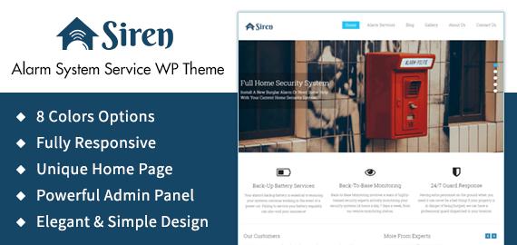 Alarm System Service WordPress Theme