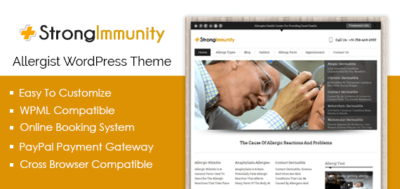 Allergist WordPress Theme