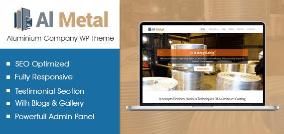 Aluminium Company WordPress Theme