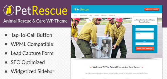 Animal Rescue And Care WordPress Theme