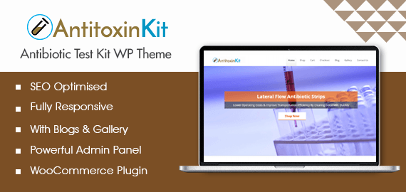 AntitoxinKit – Antibiotic Test Kit WordPress Theme