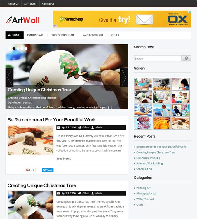 ArtWall WP theme