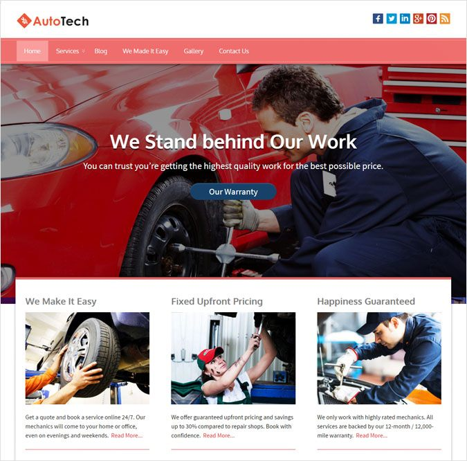 AutoTech WP theme