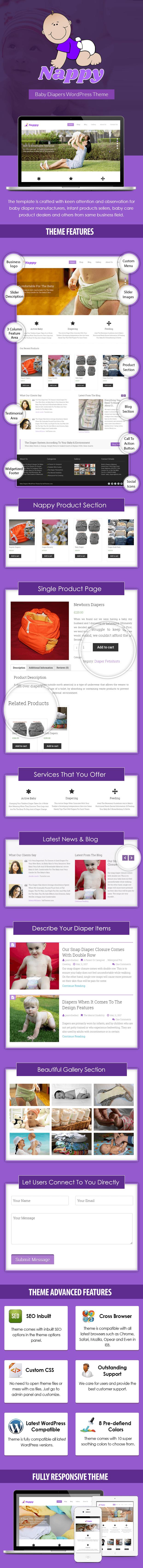 Baby Diapers WordPress Theme