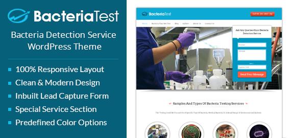 Bacteria Detection Service WordPress Theme