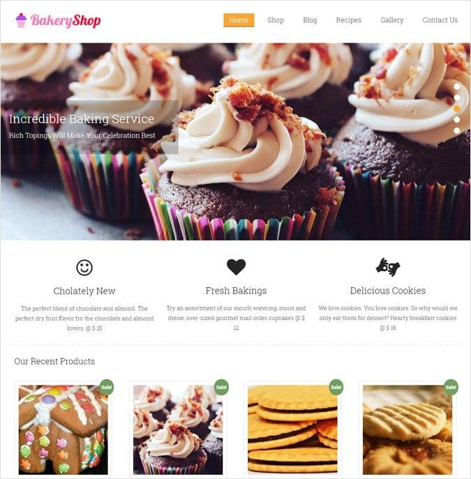BakeryShop WP theme