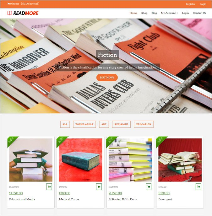 Book Shop WordPress Theme