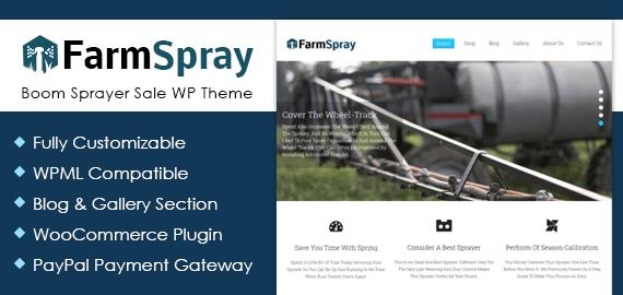 Boom Sprayer Sale WordPress Theme