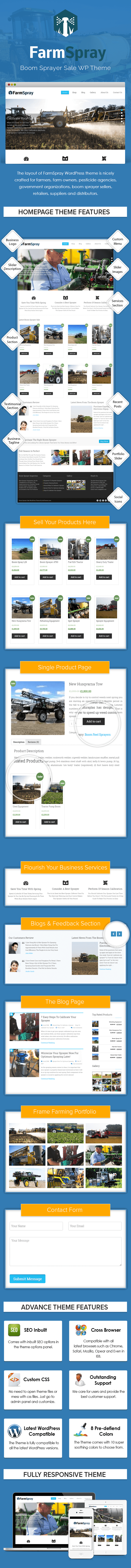 Boom Sprayer Sale WP Theme