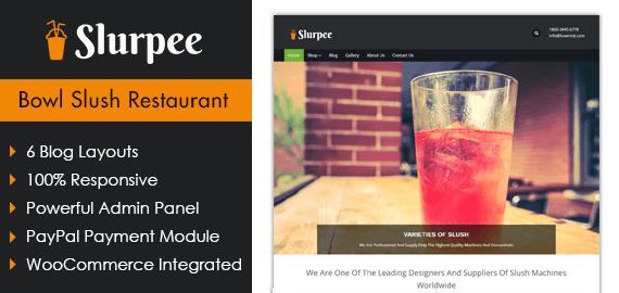 Bowl Slush Restaurant WordPress Theme & Template