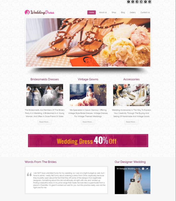 Bridal Shop WordPress Theme