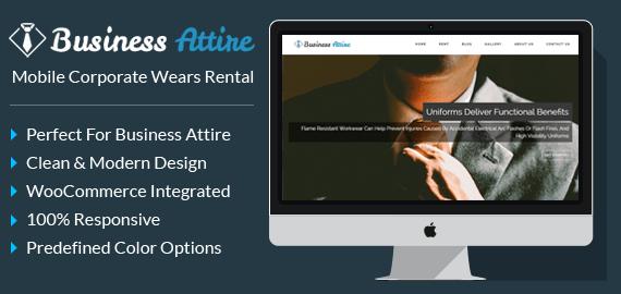 Mobile Corporate Wears Rental WordPress Theme