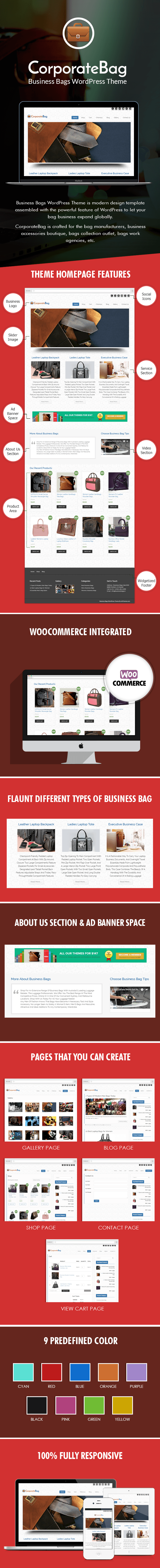 Business Bags WordPress Theme Sales