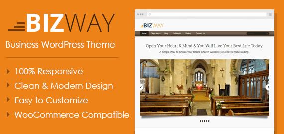 Bizway – Einfache Responsive Featured WordPress Theme