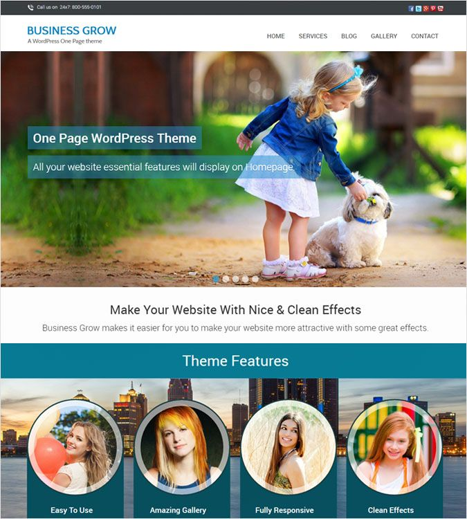 BusinessGrow WordPress Theme