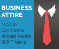 Business Attire - Mobile Corporate Wears Rental WordPress Theme & Template