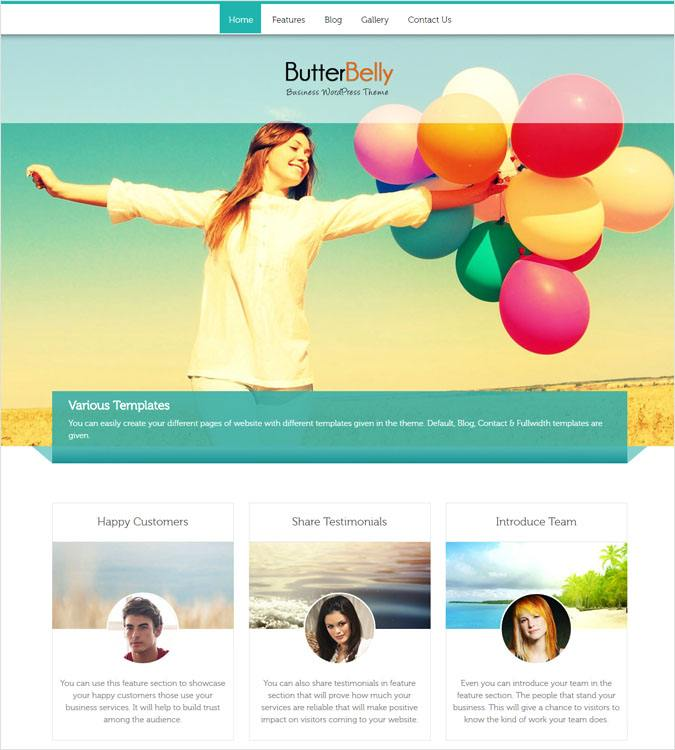 ButterBelly WP theme
