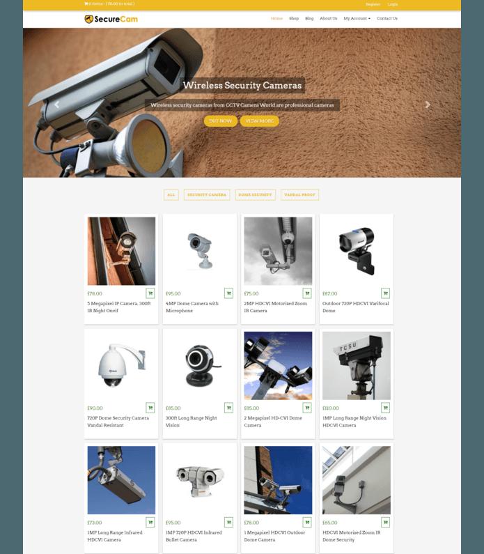 CCTV Camera WordPress Theme