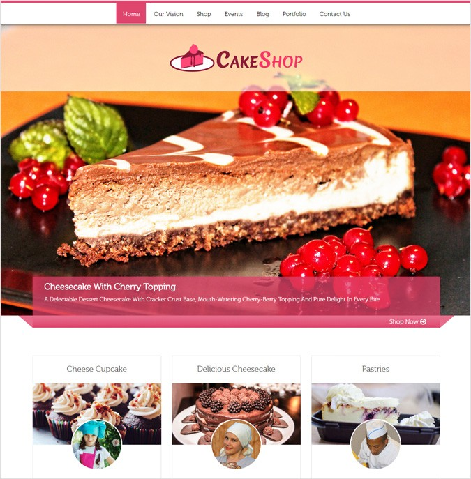 CakeShop WP theme