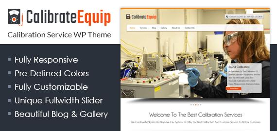 {CalibrateEquip} Calibration Service WordPress Theme