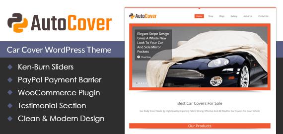 Car Cover WordPress Theme & Template