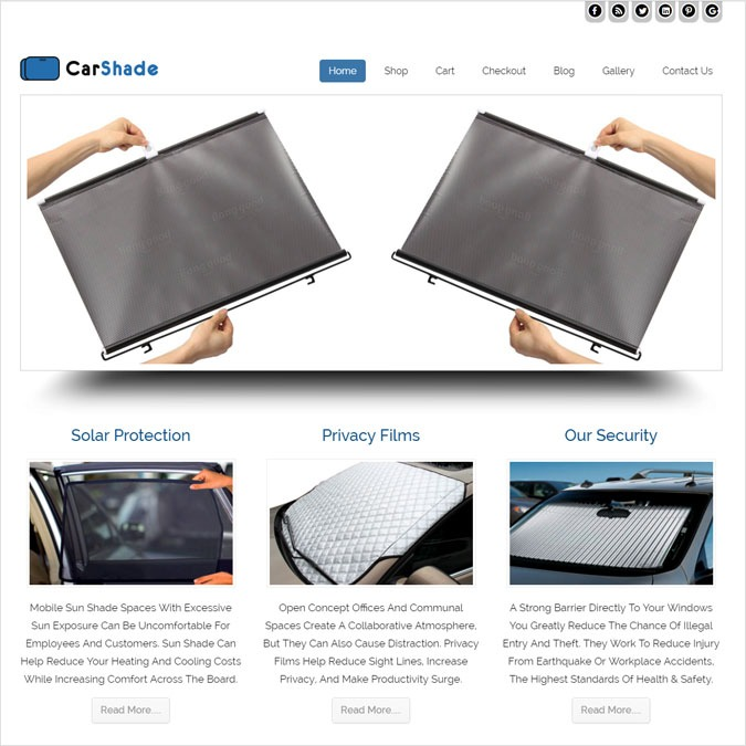 CarShade WP theme
