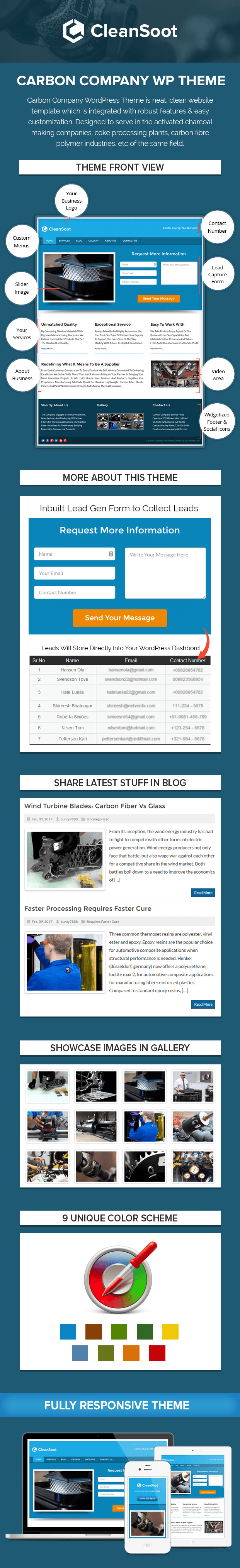 Carbon Company WordPress Theme Sales