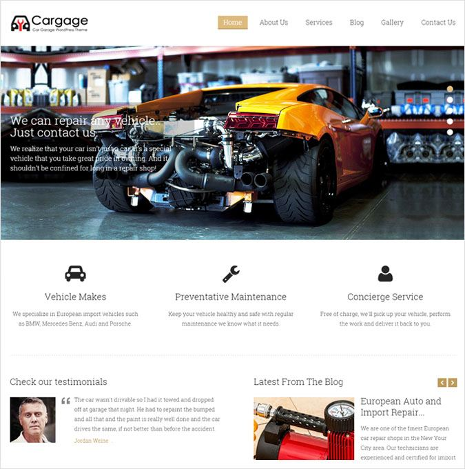 CarGage WP theme