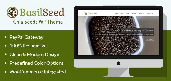 BasilSeed – Chia Seeds WordPress Theme