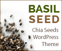 Basil Seed - Chia Seeds WordPress Theme & Template