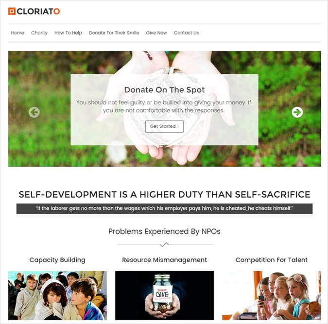 Cloriato WordPress Theme