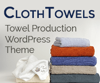 Cloth Towels - Towel Production WordPress Theme & Template