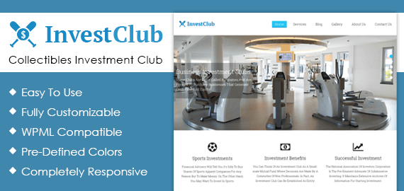Collectibles Investment Club WordPress Theme