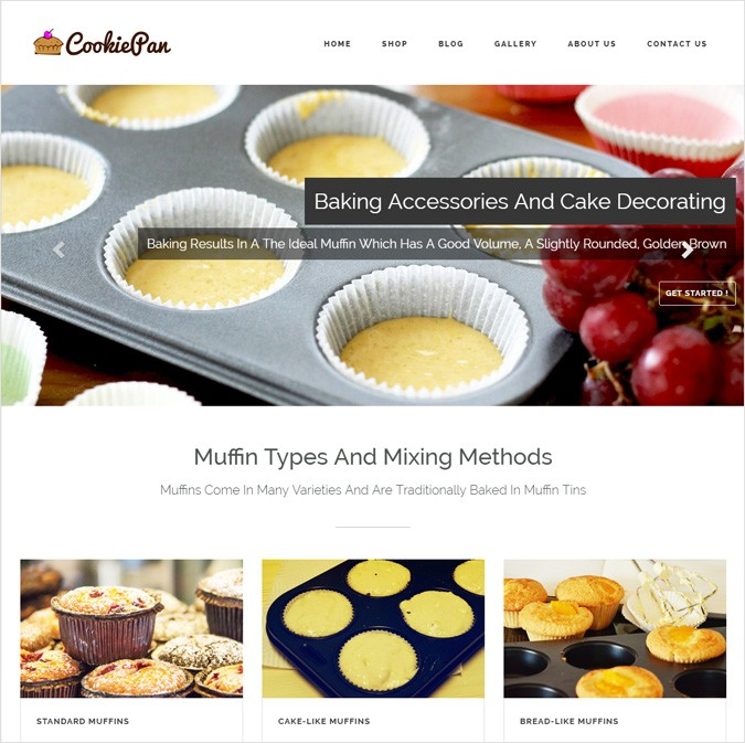 CookiePan WP theme