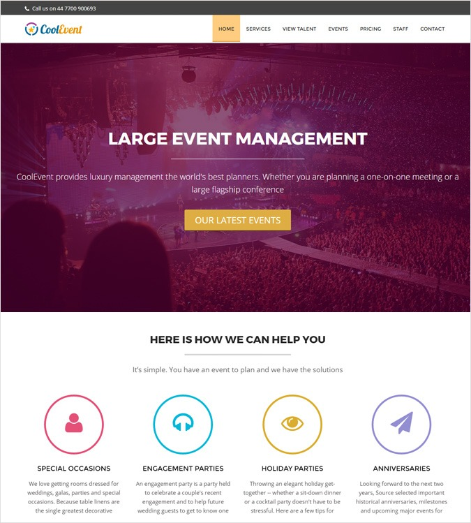 CoolEvent WP theme