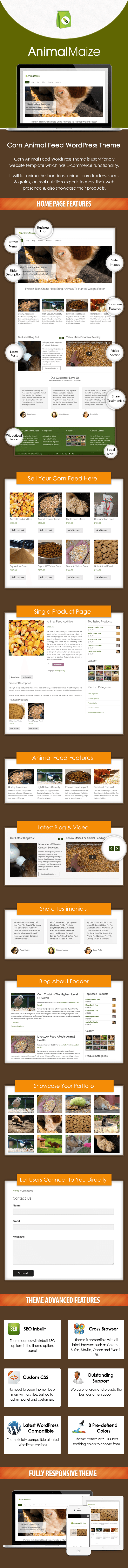 Corn Animal Feed WordPress Theme Sales