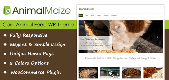 Corn Animal Feed WordPress Theme