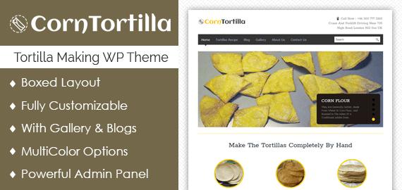 Tortilla Making WordPress Theme