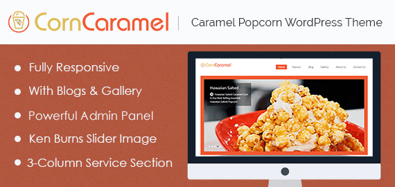 Caramel Popcorn WordPress Theme