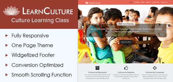 Learn Culture – Culture Learning Class WordPress Theme