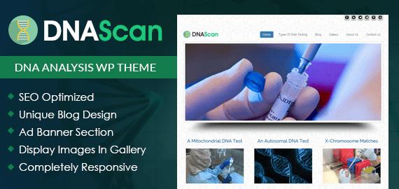 DNA Analysis WordPress Theme