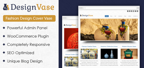 Fashion Design Cover Vase WordPress Theme