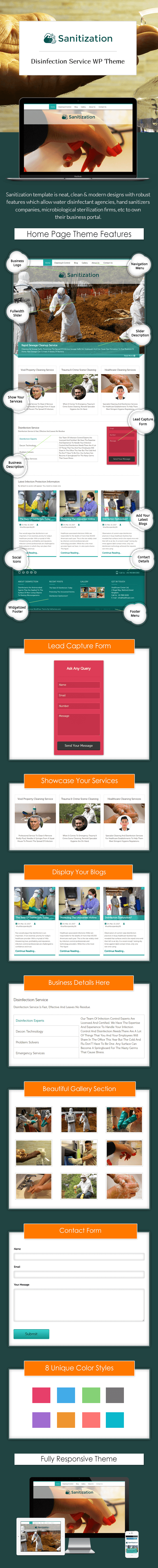 Disinfection Service WordPress Theme Sales