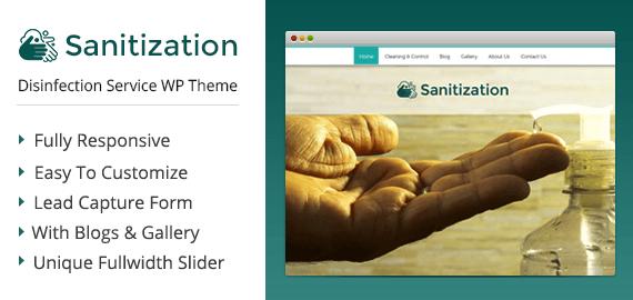 {Sanitization} Disinfection Service WordPress Theme