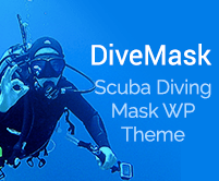 Dive Mask - Scuba Diving Mask WooCommerce WordPress Theme & Template
